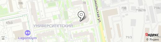 Мебельная Фабрика Вива на карте Екатеринбурга