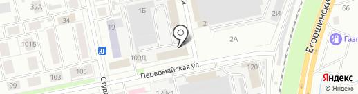 Первомайский на карте Екатеринбурга