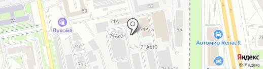 Универсальная база на карте Екатеринбурга