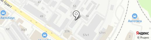 Палитра-Авто на карте Екатеринбурга