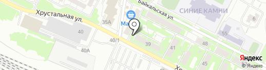 Совет ветеранов микрорайона Синие Камни на карте Екатеринбурга