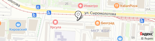 Ариант на карте Екатеринбурга