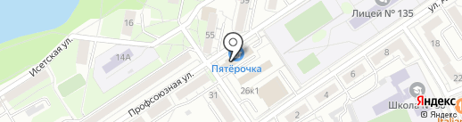 УРАЛОХОТА на карте Екатеринбурга