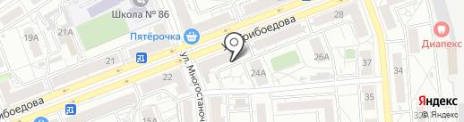 Страховой брокер на карте Екатеринбурга