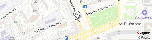 ЕРМОЛИНО на карте Екатеринбурга