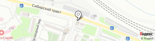 AutoCarWest на карте Екатеринбурга