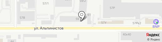 Гейзер на карте Екатеринбурга