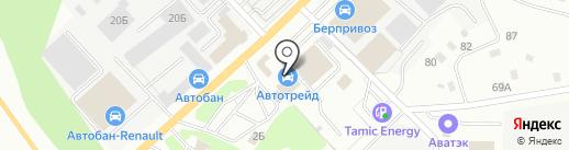 Березовск-автосервис на карте Берёзовского