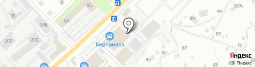 Автомобильная литература на карте Берёзовского