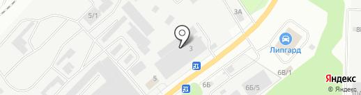 Техгаз на карте Берёзовского