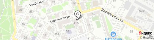 Лайна на карте Екатеринбурга