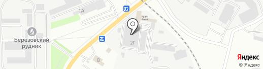 Магазин продуктов на карте Берёзовского