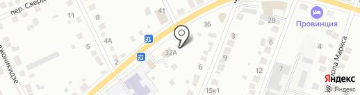 Тихоновское подворье на карте Берёзовского