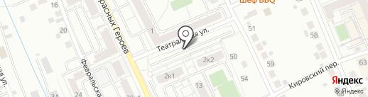 Автостоянка на ул. Красных Героев на карте Берёзовского