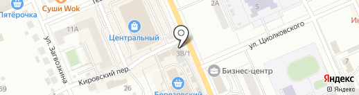 Аква-Терм на карте Берёзовского