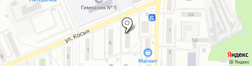 Лапушка на карте Берёзовского