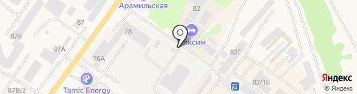 Киоск по продаже хлебобулочных изделий на карте Арамиля