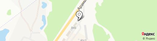 Бригадир на карте Арамиля