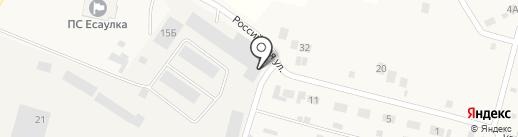 Автомагазин на карте Есаульского