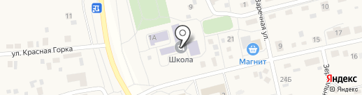 Краснопольская средняя общеобразовательная школа на карте Красного Поля