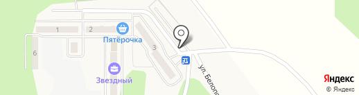 Автостоянка на карте Красного Поля