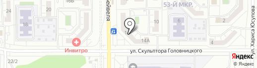 Ниагара на карте Челябинска