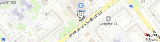 Магазин мяса птицы на карте Челябинска