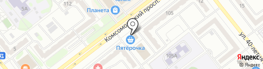Адвокат Русских Д.Г. на карте Челябинска