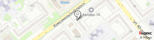 Кружка свежего на карте Челябинска