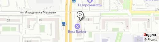 Дракон-Челябинск на карте Челябинска