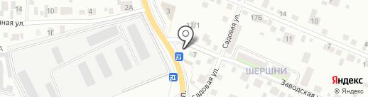 Автомоечный комплекс в Шершни на карте Челябинска