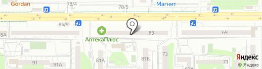 Звезда на карте Челябинска