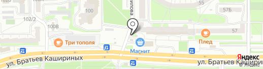Розничная сеть по продаже овощей и фруктов на карте Челябинска