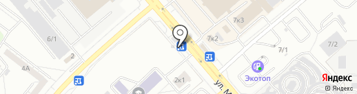 Бомбардир на карте Челябинска