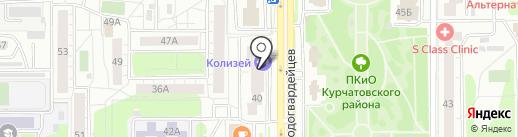 Золотой Лев на карте Челябинска
