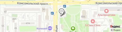 Актив-Салют на карте Челябинска