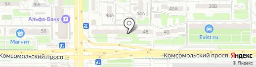 Клевер на карте Челябинска