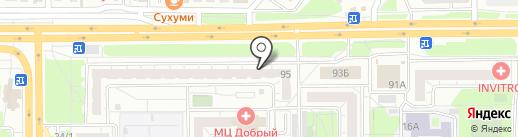 Хмельная №1 на карте Челябинска