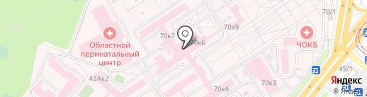 Областная клиническая больница на карте Челябинска