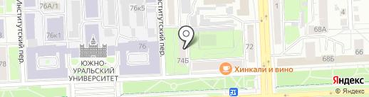 Ноутбук+ на карте Челябинска