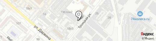 КЛЮЧ на карте Челябинска