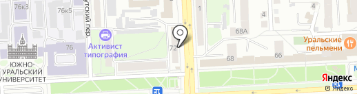 МегаБит на карте Челябинска