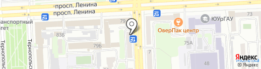 Доброе кафе на карте Челябинска