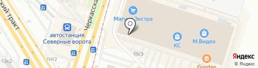 Детская игровая комната на карте Челябинска