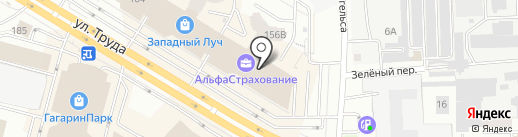 Zефирка на карте Челябинска