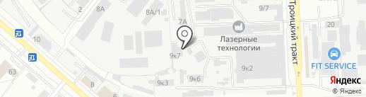 Сфера офиса на карте Челябинска