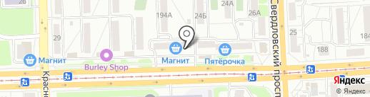 Альфа Деко на карте Челябинска