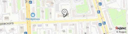 Отдел Военного комиссариата Челябинской области по Курчатовскому району на карте Челябинска