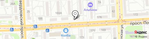Ломбард174 на карте Челябинска