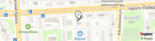 Лидер-Авто на карте Челябинска